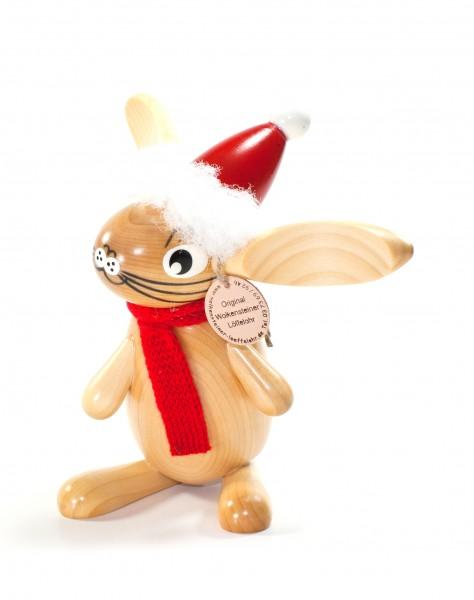 Weihnachtshase mit Schal Löffelohr 17cm - Wolkensteiner Löffelohr