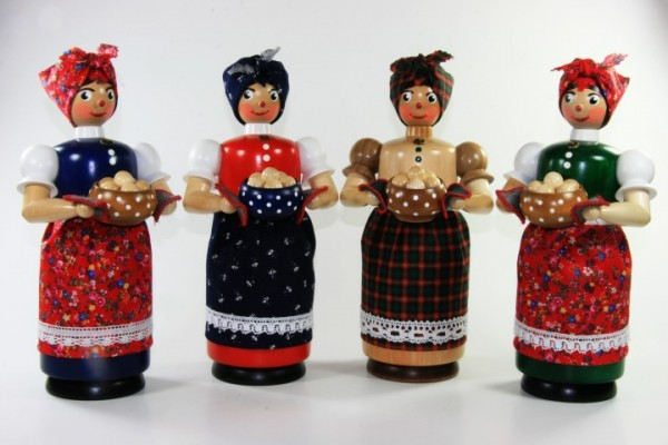 Kloßfrau - Räucherfrau 26cm