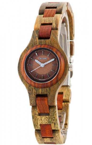 TENSE Holzuhr // Womens Pacific Greenwood Karriholz
