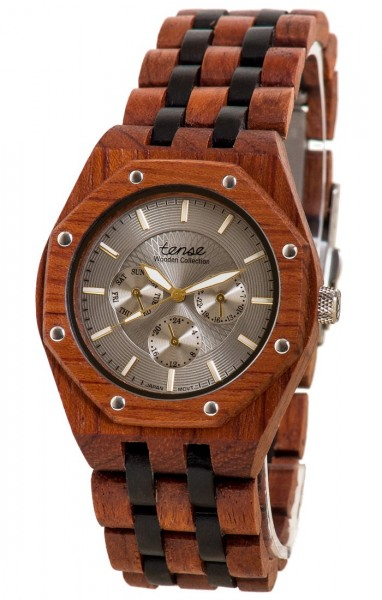 TENSE Holzuhr // Mens Washington Karriholz Black Oak