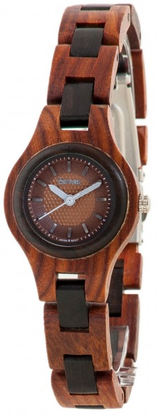 TENSE Holzuhr // Womens Pacific Karriholz Black Oak
