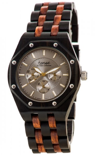 TENSE Holzuhr // Mens Washington Black Oak Karriholz